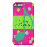 Cusom Name Sixteenth Note on Polka Dots iPhone 6 Case