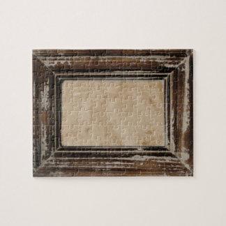 Cusomizable Rustic Frame Puzzle