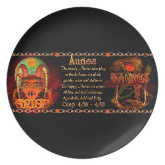 Cusp of Aries Taurus zodiac astrology Valxart.com Party Plate
