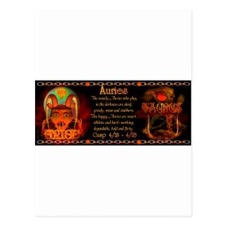 Cusp of Aries Taurus zodiac astrology Valxart.com Postcard