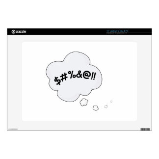 """Cuss Bubble Decal For 15"""" Laptop"""