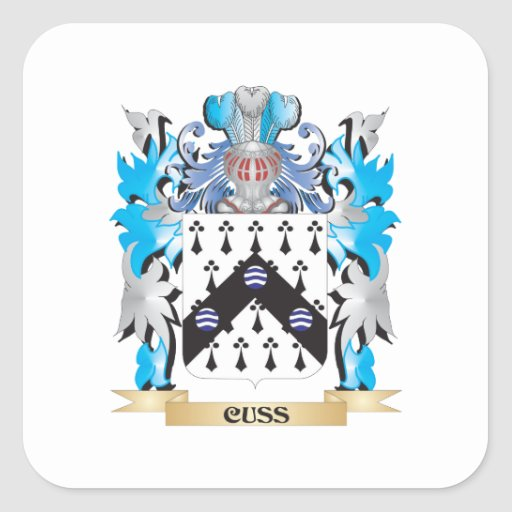 Cuss Coat of Arms - Family Crest Sticker