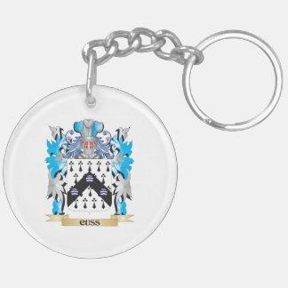 Cuss el escudo de armas - escudo de la familia llavero redondo acrílico a doble cara