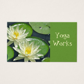 CUST.BUS.CARD./2 WHITE LOTUS BLOSSOMS BUSINESS CARD