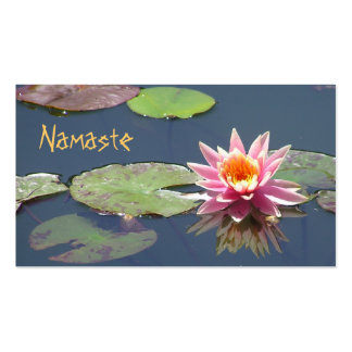 CUST.BUS.CARD/PINK LOTUS BLOSSOM & REFLECTION Double-Sided STANDARD BUSINESS CARDS (Pack OF 100)