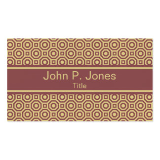 Custard and Marsala Nested Octagon Business Card Pack Of Standard Business Cards