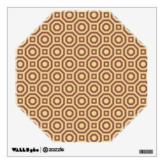 Custard and Marsala Nested Octagon Wall Decal
