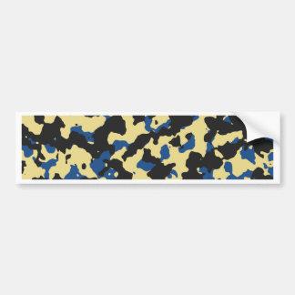 Custard - Classic Blue Camouflage Print PANTONE Bumper Sticker