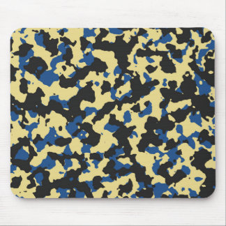 Custard - Classic Blue Camouflage Print PANTONE Mouse Pad