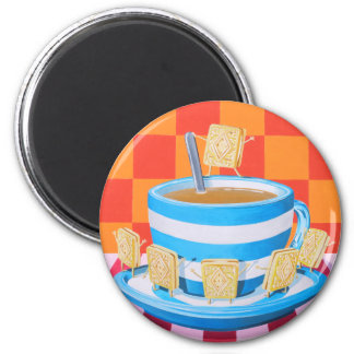 Custard Cream Tea 2 Inch Round Magnet