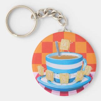 Custard Cream Tea Keychain