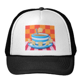 Custard Cream Tea Mesh Hat