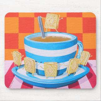 Custard Cream Tea Mouse Pad