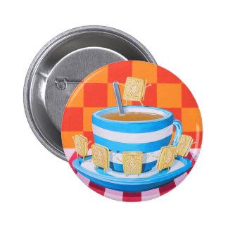 Custard Cream Tea Pin