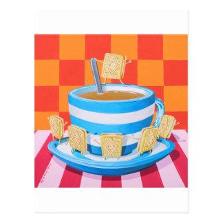 Custard Cream Tea Postcard