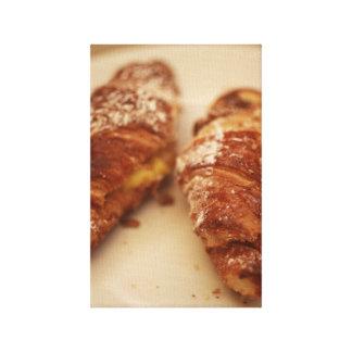 Custard Croissants Canvas Print