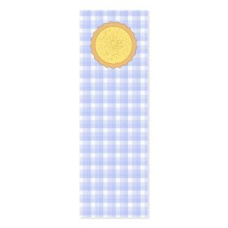 Custard Pie. Yellow Tart, with Blue Gingham. Business Card Template