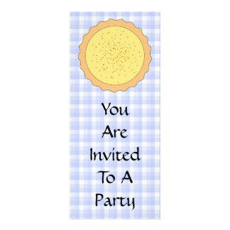 Custard Pie Yellow Tart with Blue Gingham Invites