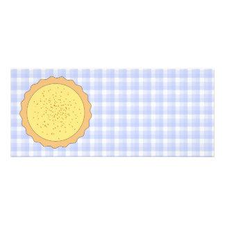 Custard Pie Yellow Tart with Blue Gingham Custom Announcements
