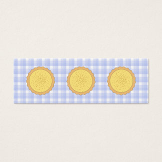 Custard Pie. Yellow Tart, with Blue Gingham. Mini Business Card