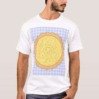 Custard Pie. Yellow Tart, with Blue Gingham. T-Shirt