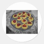 Custard Strawberry Tart Round Sticker