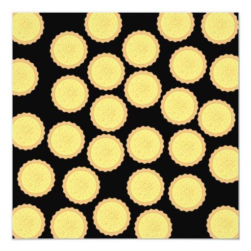 "Custard Tart Pattern. 5.25"" Square Invitation Card"