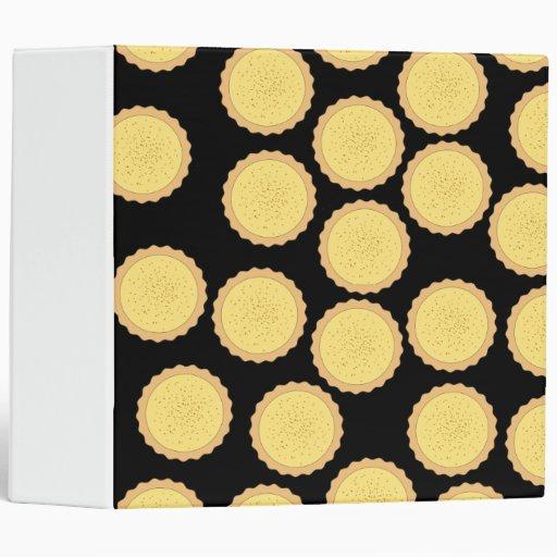 Custard Tart Pattern. Binders