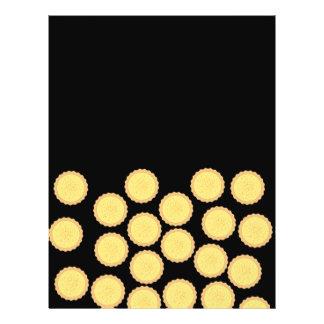 Custard Tart Pattern. Personalized Flyer