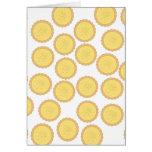 Custard Tart Pattern. Greeting Card