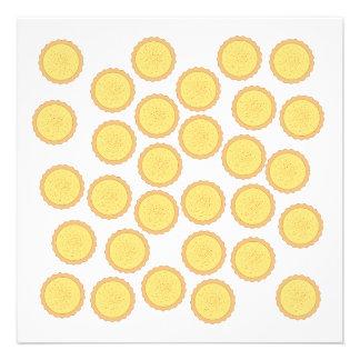 Custard Tart Pattern Personalized Invitations
