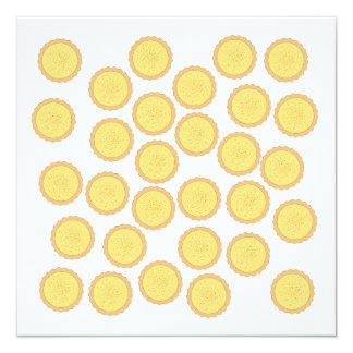 Custard Tart Pattern. 5.25x5.25 Square Paper Invitation Card