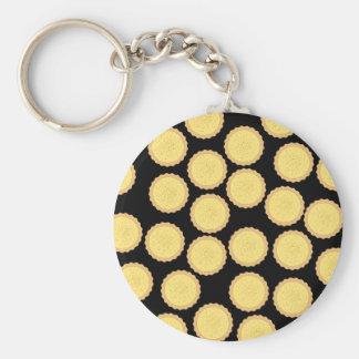 Custard Tart Pattern. Keychain