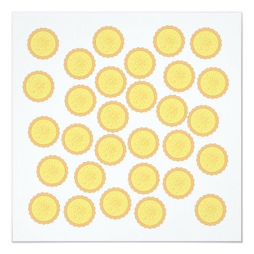Custard Tart Pattern. Personalized Invitations