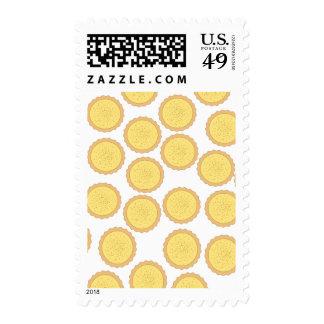Custard Tart Pattern. Postage Stamp