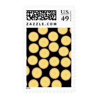 Custard Tart Pattern. Postage Stamps
