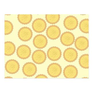 Custard Tart Pattern. Postcard