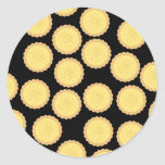 Custard Tart Pattern. Sticker