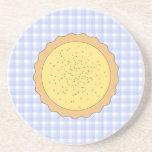 Custard Tart Pie. Beverage Coasters