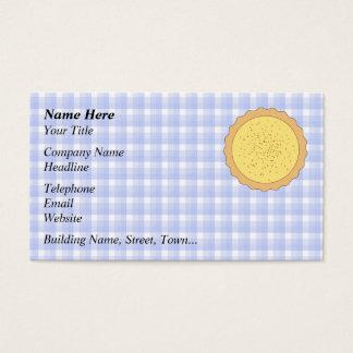Custard Tart Pie. Business Card