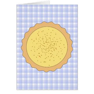 Custard Tart Pie. Stationery Note Card