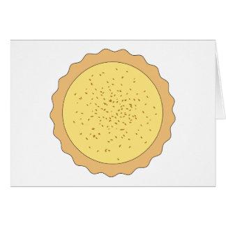 Custard Tart Pie. Greeting Card