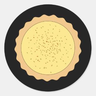 Custard Tart Pie. Classic Round Sticker