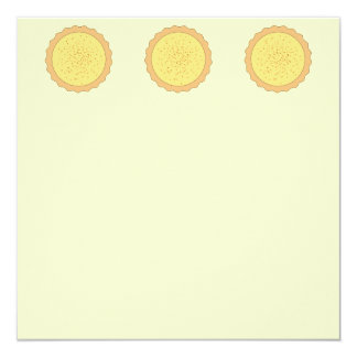 Custard Tart Pie. 5.25x5.25 Square Paper Invitation Card