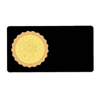 Custard Tart Pie. Shipping Label