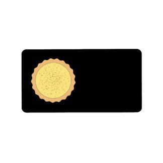 Custard Tart Pie. Address Label