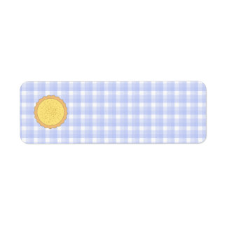 Custard Tart Pie. Return Address Label