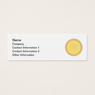 Custard Tart Pie. Mini Business Card
