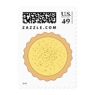 Custard Tart Pie. Postage Stamps