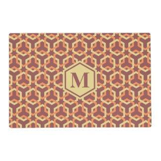 Custard Yellow and Tangerine Hexes Placemat